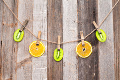Fresh Citrus Fruits. Pieces Fruits. Royalty Free Stock Photography
