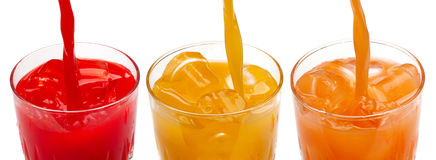 Fresh citrus juices Royalty Free Stock Image