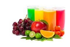 Fresh citrus juices Royalty Free Stock Images