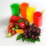 Fresh citrus juices Stock Images