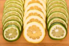Fresh citrus slices Stock Images