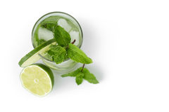 Fresh classic long drink mojito Royalty Free Stock Photo