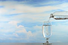 Fresh and clean drinking water royalty free stock photos
