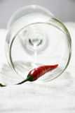 Fresh and clean red and green chili Stock Photo