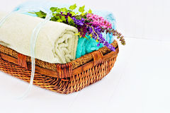 Fresh clean towels Stock Photos