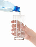 Fresh clean water from bottle Royalty Free Stock Photography