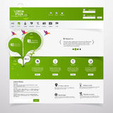 Fresh Clean website template /Eco theme/ Royalty Free Stock Photography