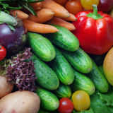 Fresh clean whole vegetables Stock Photo