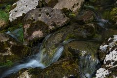 Fresh Water Of An Alpine River. Fresh Clear Water Of An Alpine River stock images