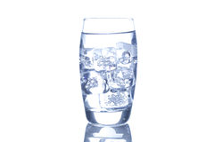 Fresh Clear Water in a glass Royalty Free Stock Photography