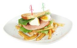 Fresh club sandwich Stock Photography