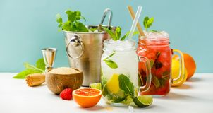 Fresh cocktail drinks Stock Images