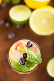 Fresh cocktail with mint, grapefruit Royalty Free Stock Image