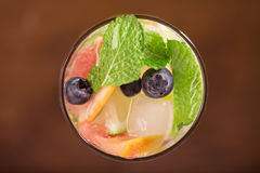 Fresh cocktail with mint, grapefruit Stock Image