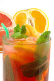 Fresh cocktail with an orange and mint Royalty Free Stock Photography