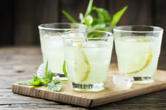 Fresh cocktail with soda and lemon Royalty Free Stock Photography
