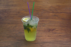 Fresh cocktail with soda, lime Stock Photography