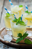 Fresh cocktail witn soda, lemon and mint Stock Photography