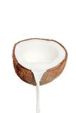 Fresh Coconut And Milk Royalty Free Stock Photos