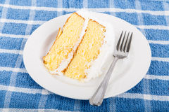 Fresh Coconut Cake on Saucer Royalty Free Stock Photography