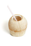 Fresh coconut drink Stock Image
