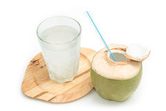 Fresh coconut drink with young coconut Stock Photo