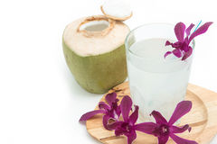 Fresh coconut drink with young coconut Stock Photography