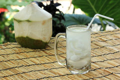 Fresh coconut juice Royalty Free Stock Images