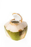Fresh coconut ready to drink Stock Photos