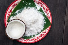 Fresh coconut for Thai food ingredient.  royalty free stock photo
