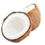 Fresh coconut on white Royalty Free Stock Image