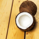 Fresh coconuts. Close up of fresh coconuts Stock Image