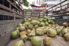 Fresh Coconuts Delivery Truck Stock Images