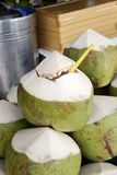 Coconuts juice in shell. Fresh Coconuts juice in shell Stock Image