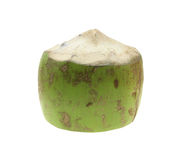 Fresh coconuts on white. Tropical fruit fresh coconut. Royalty Free Stock Photo