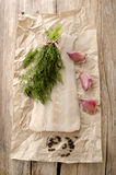 Fresh cod fillet on kitchen paper Royalty Free Stock Image