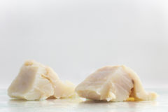 Fresh Cod Fish Fillet. Over a wet glass surface Royalty Free Stock Photos