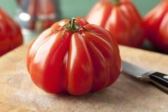 Fresh Coeur de Boeuf Tomato Foto de archivo