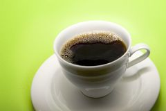 Fresh Coffee. In a cup Royalty Free Stock Image
