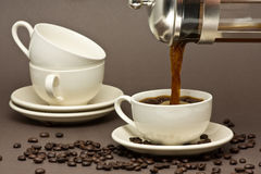 Fresh coffee Stock Photos