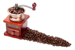 Fresh Coffee Bean And Coffee Bean Grinder Royalty Free Stock Photography