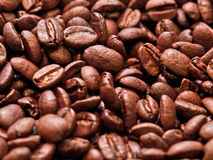 Fresh coffee beans background Stock Photos