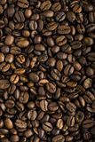 Fresh coffee beans background macro Stock Image
