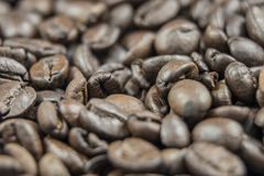 Fresh Coffee Beans Close Up Royalty Free Stock Images