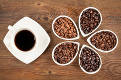 Fresh Coffee and Beans Royalty Free Stock Images