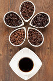 Fresh Coffee and Beans Royalty Free Stock Image