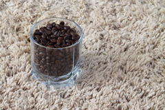 Fresh coffee. Coffee beans ready for grinding Royalty Free Stock Photography