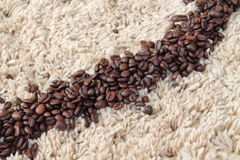Fresh coffee. Coffee beans ready for grinding Royalty Free Stock Photos