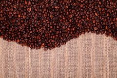 Fresh coffee beans , ready to brew delicious coffee Royalty Free Stock Photography
