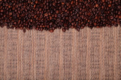 Fresh coffee beans , ready to brew delicious coffee Stock Photo